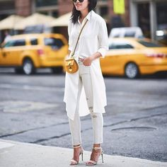 Chic white office look