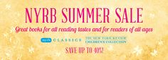 NYRB Summer Sale