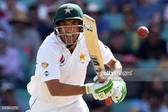 Pakistan's batsman Younis Khan plays a shot against Australia during the second day of the third cricket Test match at the SCG in Sydney on January 4, 2017.