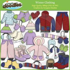 Winter Clothing Clip Art