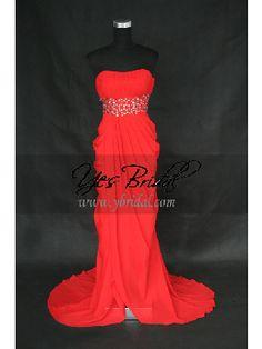 Empire Strapless Floor-length Chiffon Prom Evening Dress SEM0071