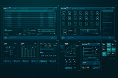 HUD Interface elements on Behance