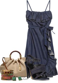 """Denim Dress"" by christa72 on Polyvore"