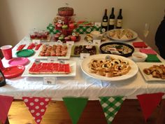 Brees Baby Shower - Food Table
