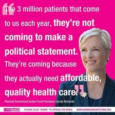 We need Planned Parenthood.