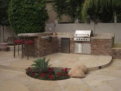 Backyard Cooking Area  Outdoor Kitchen  Desert Crest, LLC  Peoria, AZ