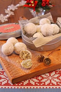 バター不使用紅茶のクリスマススノーボール