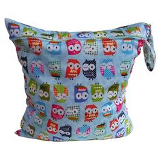 Reusable Baby Cloth Diaper Nappy WetDry Bag Swimmer Zipper Tote A32
