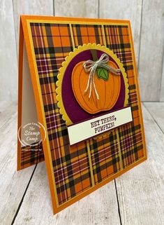 Diy Thanksgiving Cards, Fall Cards, Holiday Cards, Thanksgiving Wreaths, Happy Thanksgiving, Pumpkin Cards, Paper Pumpkin, Cute Cards, Diy Cards