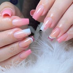 Cute Acrylic Nail Designs, Ombre Nail Designs, Cute Acrylic Nails, Nude Nails, Coffin Nails, Nail Designer, New Nail Art, Square Nails, Gorgeous Nails