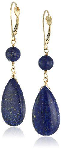 14k Yellow Gold Lapis Lazuli Flat Teardrop and Round Bead... http://www.amazon.com/dp/B00JSP7YR0/ref=cm_sw_r_pi_dp_hSzixb0C1YEKC