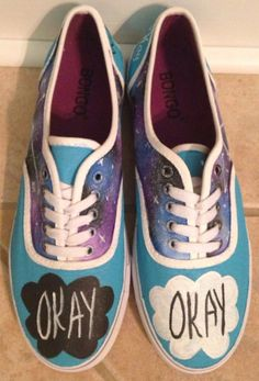The fault in our stars painted shoes Painted Canvas Shoes 265cb0d5cca