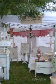 Rita's booth! The Vintage Marketplace