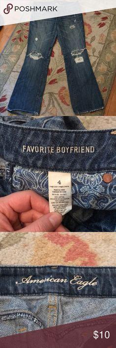 American Eagle Favorite Boyfriend Jeans American Eagle Favorite Boyfriend Jeans - size 4, great condition American Eagle Outfitters Jeans Boyfriend