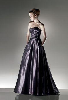 A-line Sweetheart Ruched Bodice Pleated Bow Taffeta Evening Dress-soe0036, $184.95