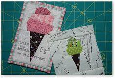 freezeframe: Paper Piecing Tutorial to make cute little ice cream cones!!