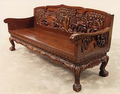 Superbe Hand Carved Vietnamese Furniture   Living Room Set