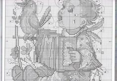 """Let's Sing""  Hummel cross stitch pattern"