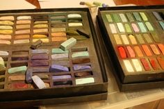 Make your own Chalk Pastels, as well as links to art lessons, etc.
