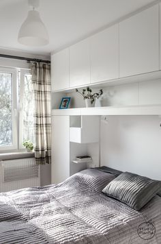 When it comes to setting up, small spaces can be problematic. With the appropriate implementation of smart home furnishings, but even the smallest room can be Ikea Bedroom, Bedroom Wardrobe, Home Bedroom, Bedroom Decor, Master Bedroom, Bedrooms, Small Rooms, Small Apartments, Small Spaces
