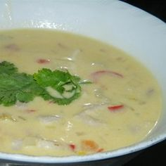 Coconut Conch Chowder - I made some alterations . like conch.I don't even know what that is - chicken, yellow onion and no half/half but otherwise the same recipe. Conch Recipes, Seafood Recipes, Seafood Soup, Chowder Recipes, Soup Recipes, Drink Recipes, Kids Nutrition, Healthy Nutrition, Recipes
