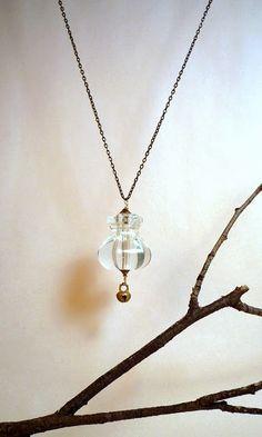 made from a glass dresser knob