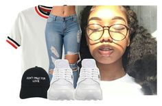 """""""Untitled #154"""" by carlace ❤ liked on Polyvore featuring WithChic, Nasaseasons and NIKE"""