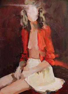 "Saatchi Online Artist: Fanny Nushka Moreaux; Oil 2013 Painting ""Orange"""