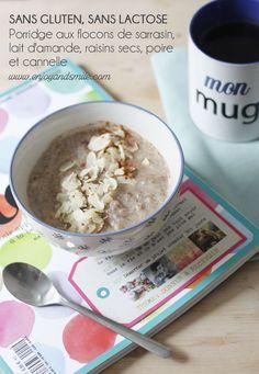 Essayez cette recette de petit-déjeuner healthy (sans gluten ni lactose) : mon porridge aux flocons de sarrasin, raisins secs, poire et cannelle