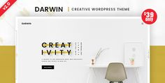 Darwin | Creative WordPress Theme Darwin is a powerful and original responsive & parallax WordPress theme. Elegant Execution of this theme is achieved by the great combination of Classy Style with Refinement. Perfect to promote your work or your porfolio and business. An eye for a