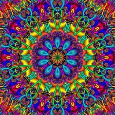Mandala turbilhão de cores