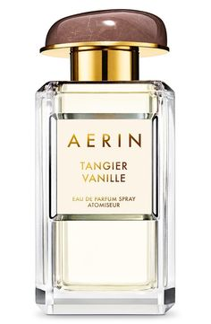 Estée Lauder's AERIN Beauty 'Tangier Vanille' is an eau de parfum that balances a rich vanilla scent with notes of bergamot and rose.