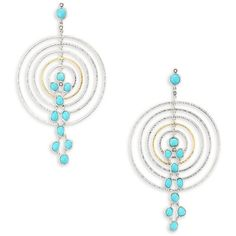 Coomi Silver Spring Turquoise, Diamond & Sterling Silver Drop Earrings (¥132,820) ❤ liked on Polyvore featuring jewelry, earrings, diamond drop earrings, turquoise jewelry, diamond fine jewelry, turquoise post earrings and sterling silver jewelry