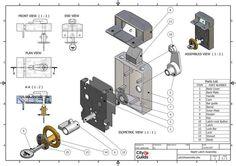 3D model - Latch Assembly Case Study 2007 on Behance