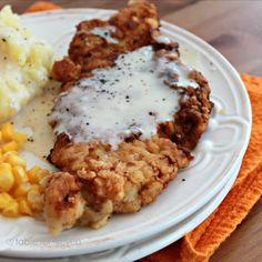 table for seven: Country Fried Pork with White Gravy