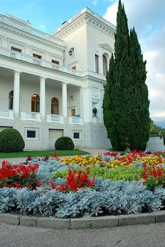 Livadia Palace, Crimean vacation home of the last Imperial family. The family had hoped to live here simply as private citizens after the Revolution, but the Bolsheviks had other plans for them in Ekaterineburg.