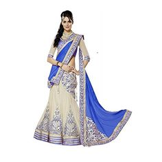 Fab Glory Womens Blue moon Heavy Embroidered Designer Lehenga Saree ** Be sure to check out this awesome product.
