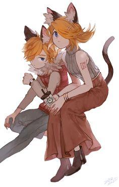 Rin y len Vocaloid, Anime Neko, Manga Anime, Anime Art, Kagamine Rin And Len, Mikuo, Witch House, Cute Anime Couples, Anime Love