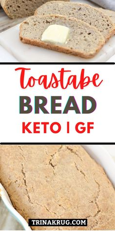 This easy homemade gluten free bread is paleo friendly, super soft, and takes less than 10 ingredients to make! #ketobread #glutenfreebread Lowest Carb Bread Recipe, Low Carb Bread, Keto Bread, Keto Recipes, Snack Recipes, Dessert Recipes, Desserts, Gluten Free Snacks, Paleo