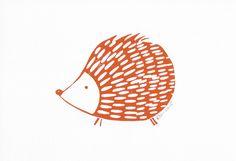 Hedgehog by Lynn costello erskine on art click. Lino Art, Woodcut Art, Linocut Prints, Lino Printing Kit, Screen Printing, Handmade Stamps, Linoprint, Sgraffito, Chalk Pastels