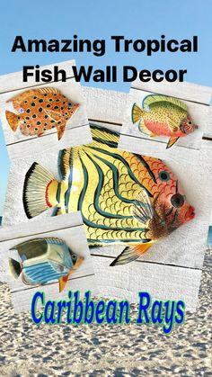 Fun Whimsy Metal Painted Fish Wall or Outdoor Art Decor Boys Bathroom Decor, Fish Bathroom, Bathroom Decor Pictures, Christmas Bathroom Decor, Bathroom Sets, Window Wall Decor, Baby Wall Decor, Letter Wall Decor, Wall Art Decor