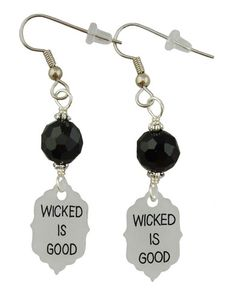 Unique Creations — Wicked Is Good, Earrings, Maze Runner Inspired Earrings