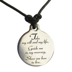 Narcotics Anonymous 3rd Step Prayer Leather Necklace is a must for peeps in NA!