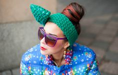 MACADEMIAN GIRL: looks. Bow headband by Nudakillers