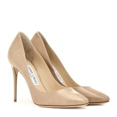Jimmy Choo Esme 100 Patent Leather Pumps ($500) ❤ liked on Polyvore featuring shoes, pumps, beige, jimmy choo, jimmy choo shoes, patent pumps, patent shoes and beige patent leather pumps