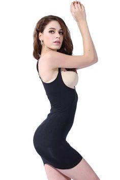 b0de272f8 Franato Womens Shapewear Wear Your Own Bra Control Slip Body Shaper Dress  XLarge Black