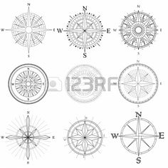 19268427-set-illustration-of-abstract-artistic-drawings-compass-for-area-map.jpg (450×450)