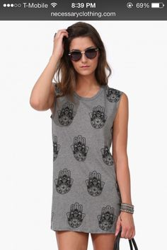 the perfect lazy tank dress. get more similar styles at  www.necessaryclothing.com