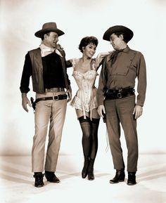 John Wayne, Charlene Holt & Robert Mitchum