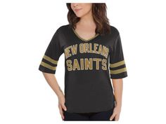 New Orleans Saints Touch by Alyssa Milano NFL Women s Quarterback T-Shirt  Touch By Alyssa fcae3f613
